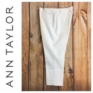 💸Ann Taylor white crop trouser in size 14 petite